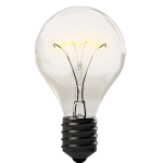 light bulb, isolated, transparent